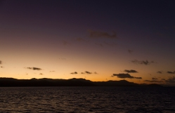 sunset at the whitsundays