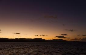 sunset at the whitsundays