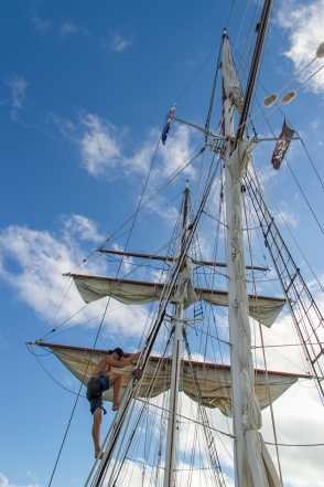 getting ready to sail