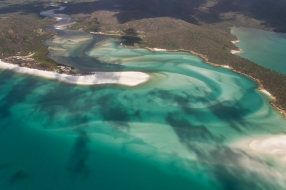 whitehaven beach from above