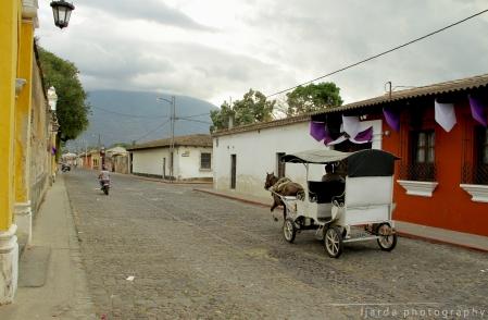 Colonial street, Antigua Guatemala