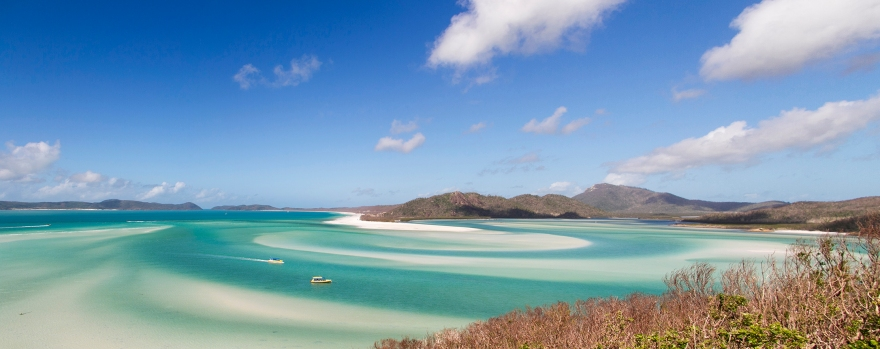 panorama of whitehaven beach