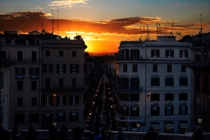 View at the Spanish steps, Rome