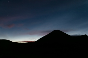 short after sunset