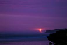 Lightning at twilight