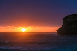 sunset at Port Campbell